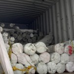 A container full of fabric.