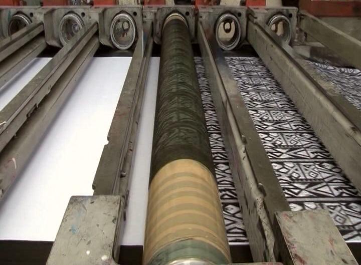 Rotary machine rolling printers.