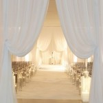 Beautiful wedding drapes