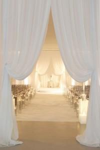 Beautiful wedding drapes