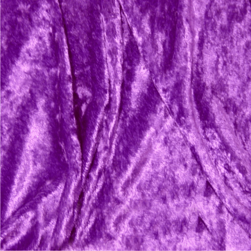 purple crushed velvet