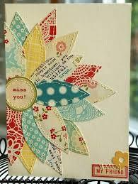 fabric scrapbook flower