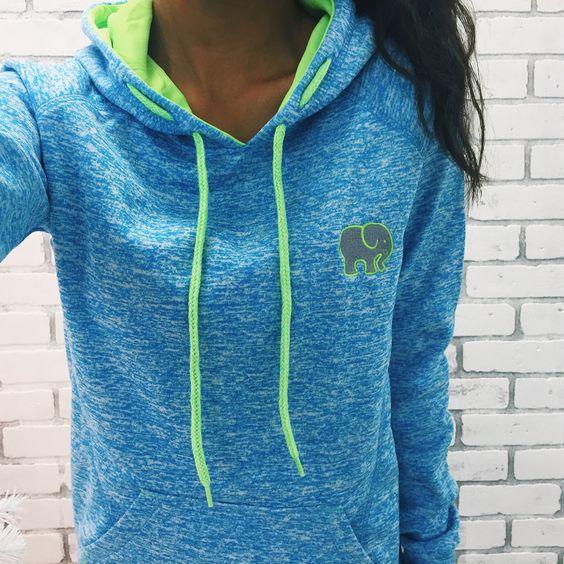 Polyester blue hoodie