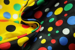 spotty satin fabric