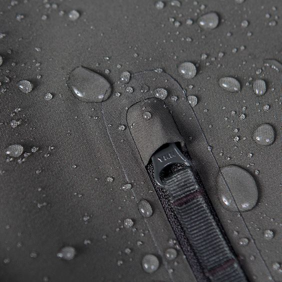 Water repellent grey fabric