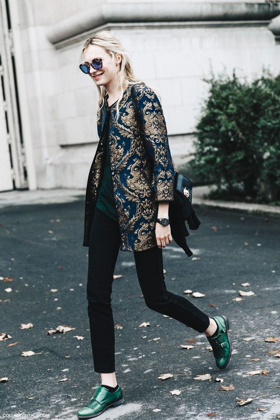 Gold jacquard jacket