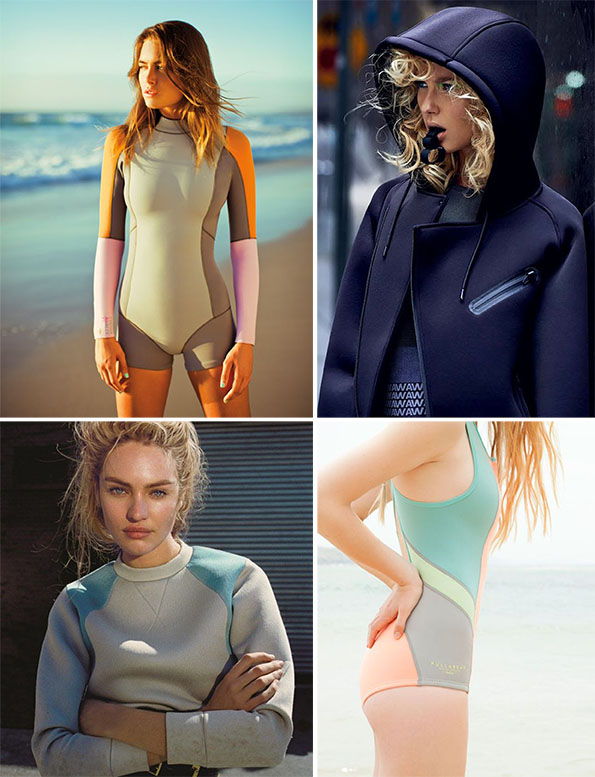 Here are some inspirational ideas for using neoprene in sportswear! Inspirational neoprene images Fabric UK