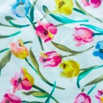 Spring fabric floral pattern