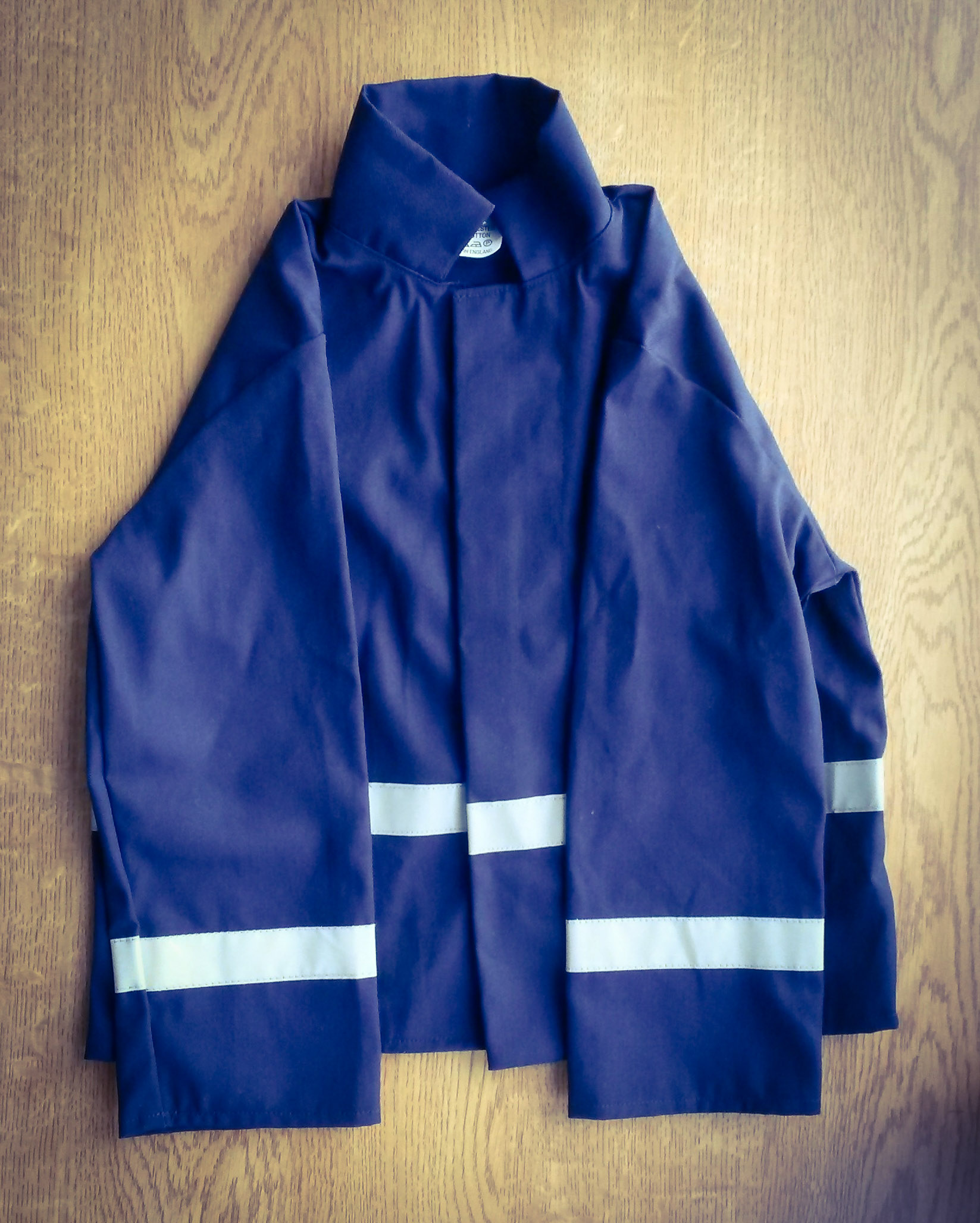 Polycotton drill fabric for fire jacket