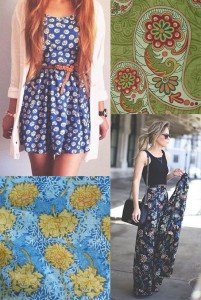spring fashion prints floral and paisley