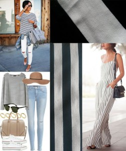 striped fabric spring fashion inspiration