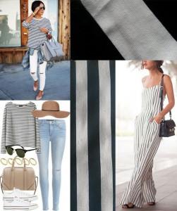 striped fabric spring fashion inspiration