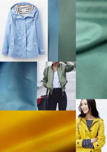 Waterproof breathable fabric for spring jackets