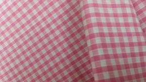 Gingham fabric for interior