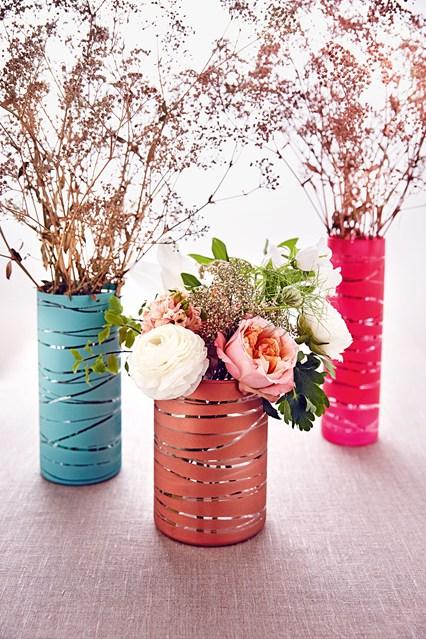 Pretty coloured vases