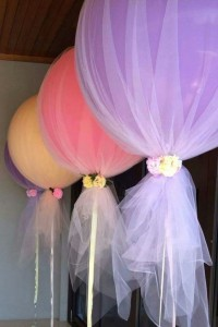 Fabric covered wedding balloons
