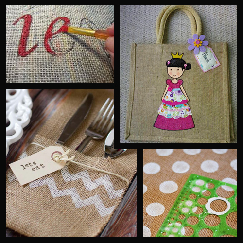 ideas for painting hessian