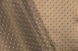 Italian jacquard fabric beige dotted