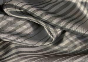silver stripe jacquard Italian lining fabric