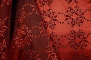 Italian jacquard fabric garnet