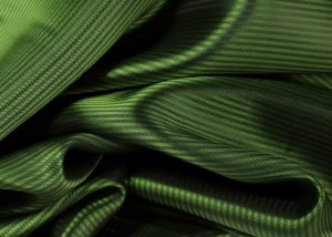 Italian jacquard fabric green stripped