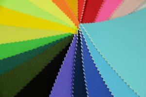 rainbow of neoprene fabric colours