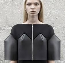 structured neoprene fashion