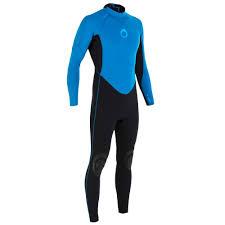 blue neoprene wetsuit