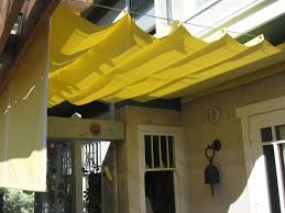 yellow awning fabric