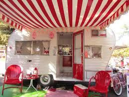 red white caravan