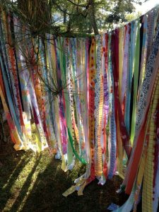 hippy garden fabric curtain