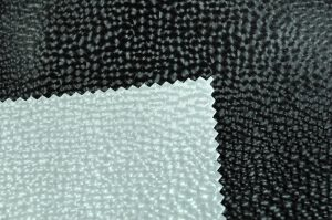 techno look etched circles leatherette vinyl fabric