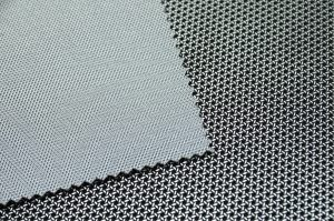 techno look vinyl leatherette mesh effect