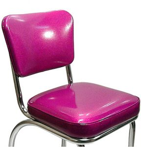 pink glitter vinyl retro seat