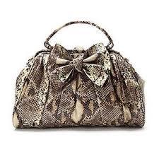 faux snake skin handbag