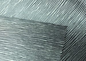 techno look metal ripple leatherette vinyl fabric