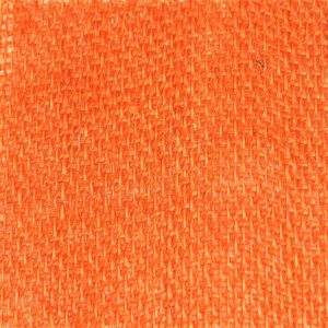 orange hessian fabric