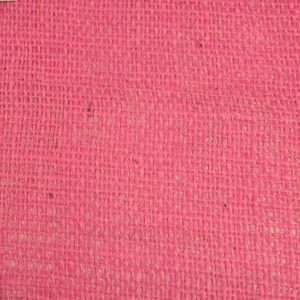 pink laminated hessian