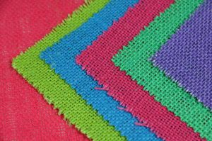 bright hessian fabric