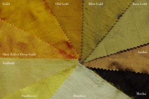 gold dupion silk fabric colours
