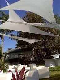 garden triangular canopies lycra stretch fabric
