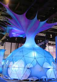 blue pineapple stretch dome