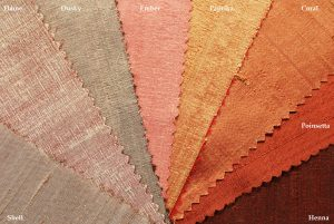 dupion silk fabric warm shades