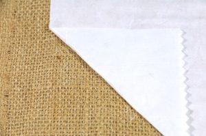 self adhesive hessian fabric back