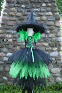 girls green tutu witch costume