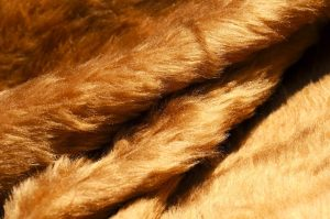 honey brown fake fur
