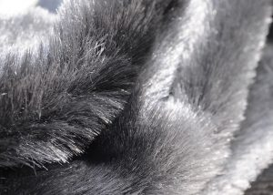grey fake fur