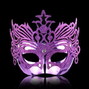 purple glitter mask
