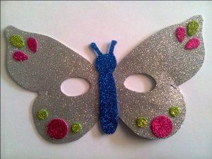 kids butterfly glitter mask