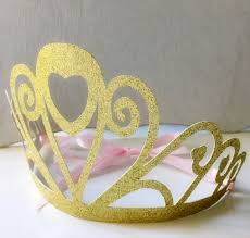 gold glitter cutout crown